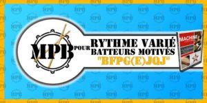 Cours de batterie - Rythme varié pour batteurs motivés - BFPG(E)JQJ